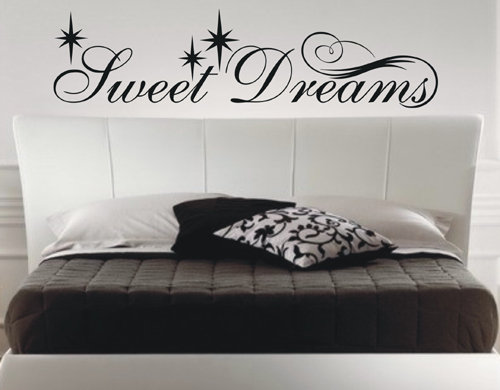 wandtattoo sweet dreams wandsticker schlafzimmer s e tr ume wandtatoo sp2023 ebay. Black Bedroom Furniture Sets. Home Design Ideas